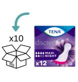 TENA TENA Discreet Maxi Night verbanden - 10 pakken