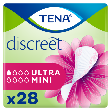 TENA TENA  Discreet Ultra Mini inlegkruisjes - 10 pakken