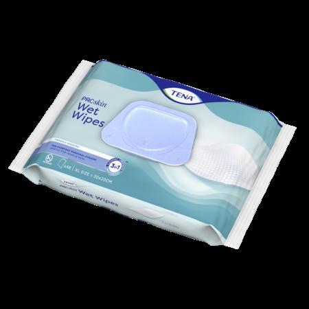 TENA Wet Wipes ProSkin  met dispenser (48 stuks)