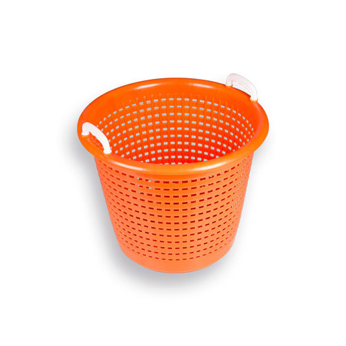 Afvalmand kunststof, oranje, inhoud 58 liter.