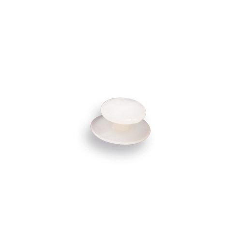 Wit bevestiginsknop voor kniebeschermer type 20