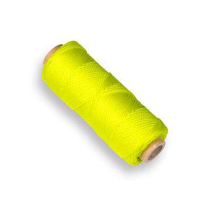 Uitzetkoord fluor geel 50 mtr (draadpennen)