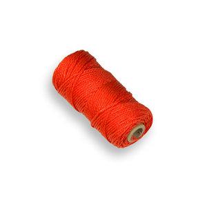 Uitzetkoord oranje 50 mtr (draadpennen)