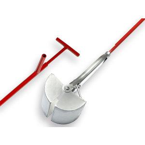 Putschep 20 cm Vierkant, steel 150 cm.