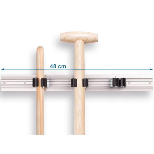 PRAX vario rail 48 cm breed voor Prax steelklemmen