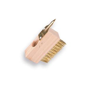 Voegenstaalborstel met scratcher z.steel
