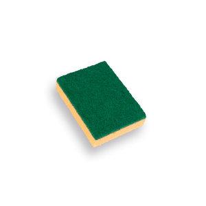 Schuurspons geel (verpakt per 10) 140x95x28