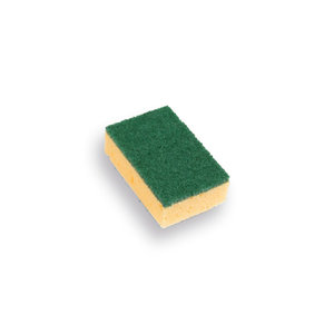 Schuurspons  (verpakt per 10) geel klein 100x70x28
