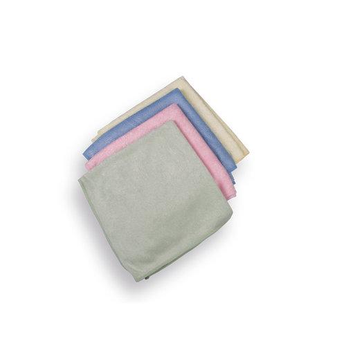 Microvezeldoek set Blauw-Rose-Geel-Groen