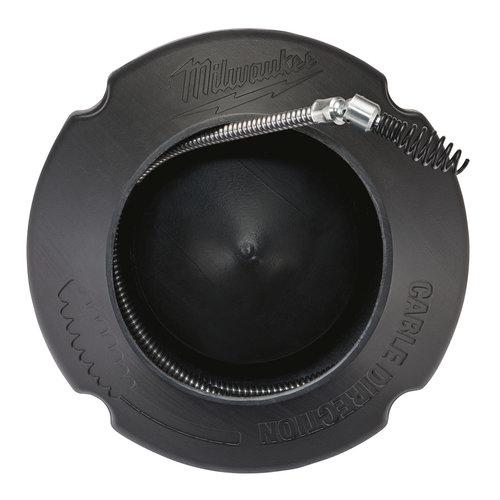 Milwaukee 6mm x 7.6m spiral, pivot bulb auger + drum-1pc