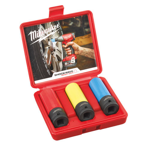 Milwaukee Automotive removal set in molded case -  17, 19, 21 mm , plastic sleeve