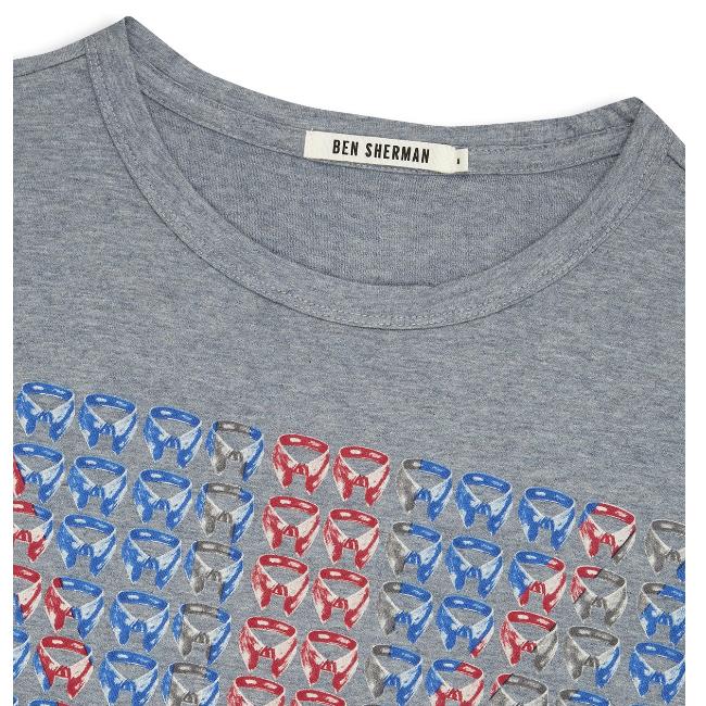 Ben Sherman, Union Collar T-Shirt, Winds Marl, L