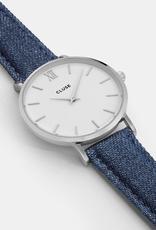 Cluse Cluse, Minuit, silver white/blue denim