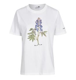 Cleptomanicx Cleptomanicx, T-Shirt, flower smile, white, L