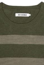 Ben Sherman, Stripe Crew Neck, Four Leaf Clover Marl, XL