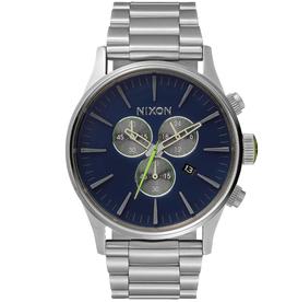 Nixon NIXON, Sentry Chrono, midnight blue / volt green