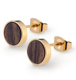 Kerbholz Kerbholz, Circle Earring, sandalwood shiny gold