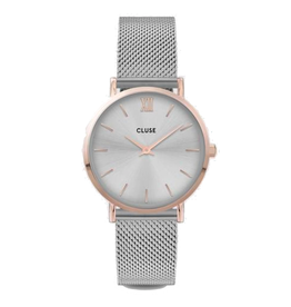 Cluse Cluse, Minuit Mesh, silver/ rosegold
