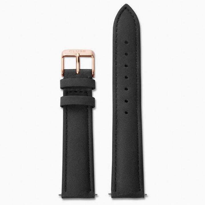 Cluse Cluse, Boho Chic, Strap (18mm), black/rose gold