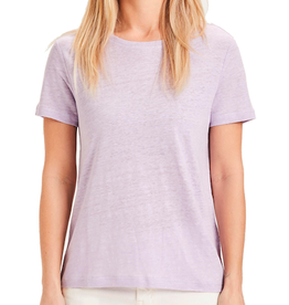 KnowledgeCotton Apparel KnowledgeCotton, Holly linen tee, pastel lilac, S