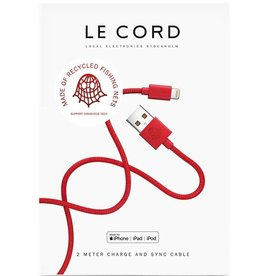 Le Cord LeCord, Ghost Net 2.0, 2 Meter, red