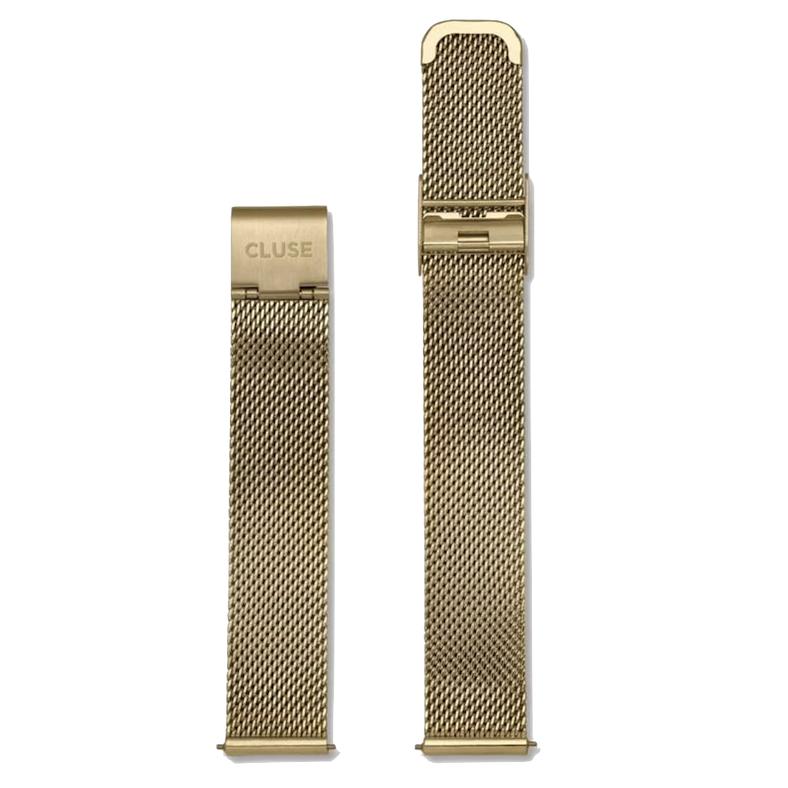 Cluse Cluse, Minuit Mesh Strap (16mm), gold