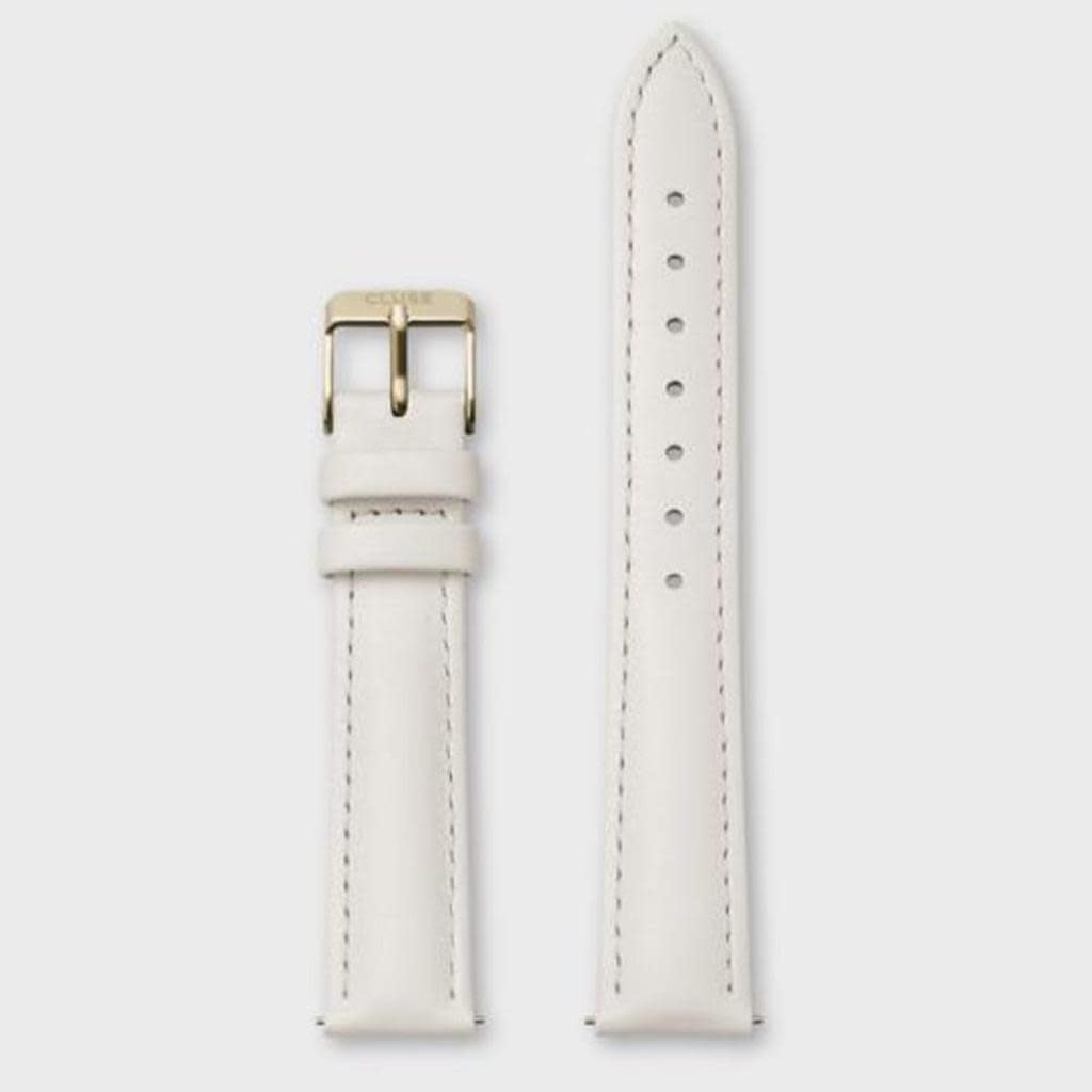 Cluse Cluse, Minuit Strap (16mm), offwhite/ gold