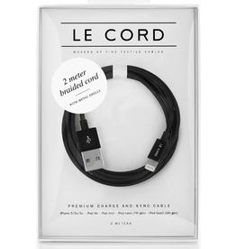 Le Cord LeCord, Solid Black, 2 Meter