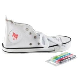 Donkey Products Donkey Products white, sneaker pencil case