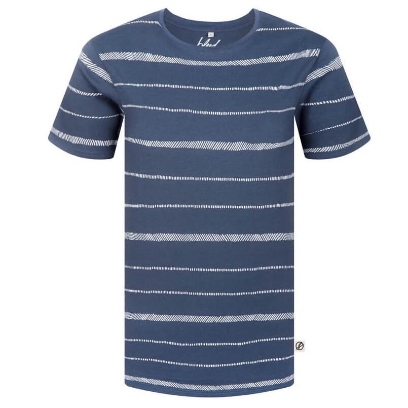 Bleed Bleed, Stripe T-Shirt, Rauchblau, M