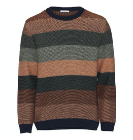 KnowledgeCotton Apparel KnowledgeCotton, Striped Knit, brown, S