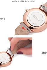 Cluse Cluse, Minuit Strap (16mm), caramel/rose gold