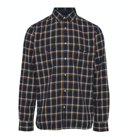 KnowledgeCotton Apparel KnowledgeCotton, Flannel Shirt, blue, XL
