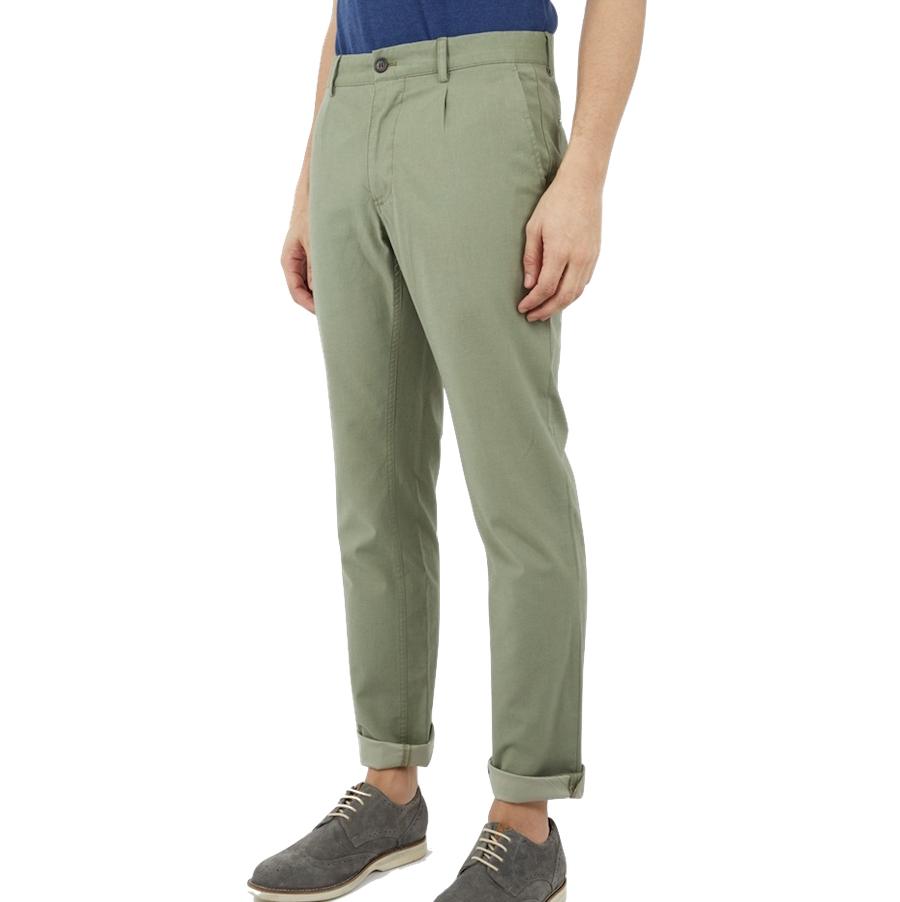 Ben Sherman, Chambray Trouser, mititary green, 33/34