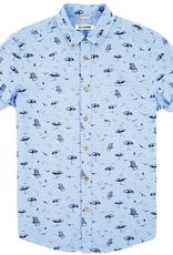 Ben Sherman, SS, beach print, washed blue, S