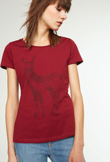 armedangels Armedangels, Mari Twinkle Deer, cranberry red, XS