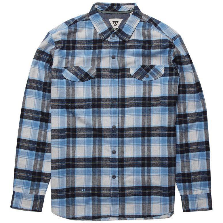Vissla Vissla, Central Coast LS Flannel, blue wash, M