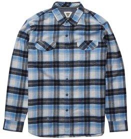 Vissla Vissla, Central Coast LS Flannel, blue wash, L