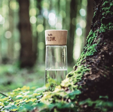 Bulb Flow Bottle,  Made in Switzerland