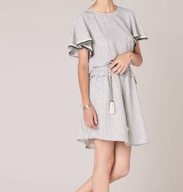 Sessun Sessun, Flying Bird Kleid, whiblack, S
