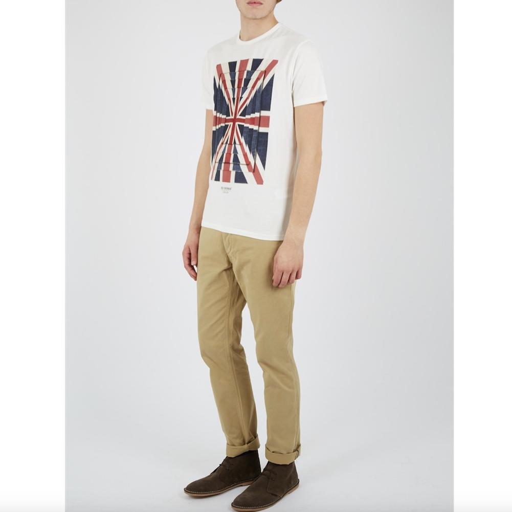 Ben Sherman, Union Optic Tee, off white, XL