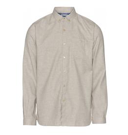 KnowledgeCotton Apparel KnowledgeCotton, Elder flannel shirt, greige, M