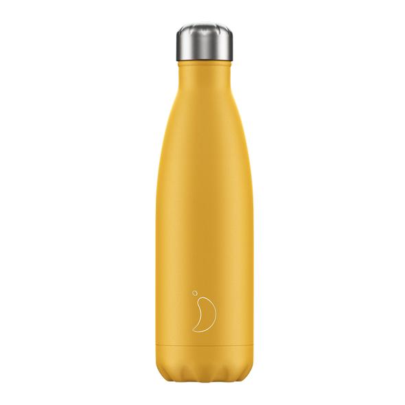 Klitmøller Chilly's Bottles, Matte yellow, 500ml