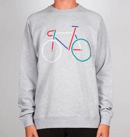 Dedicated Dedicated, Sweatshirt Malmoe Color Bike, Grey melange, M