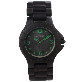 WeWood, THE DATE KALE, black/green
