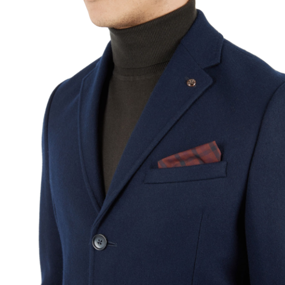 Ben Sherman, Covert Coat, Navy Blazer, S