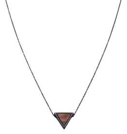 Kerbholz Kerbholz, Triangle Necklace, walnut/black