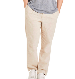 KnowledgeCotton Apparel KnowledgeCotton, FIG loose linen pant, light feather grey, L