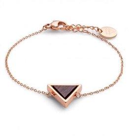 Kerbholz Kerbholz, Triangle Bracelet, sandalwood/rosegold