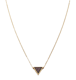 Kerbholz Kerbholz, Triangle Necklace, Sandalwood, gold